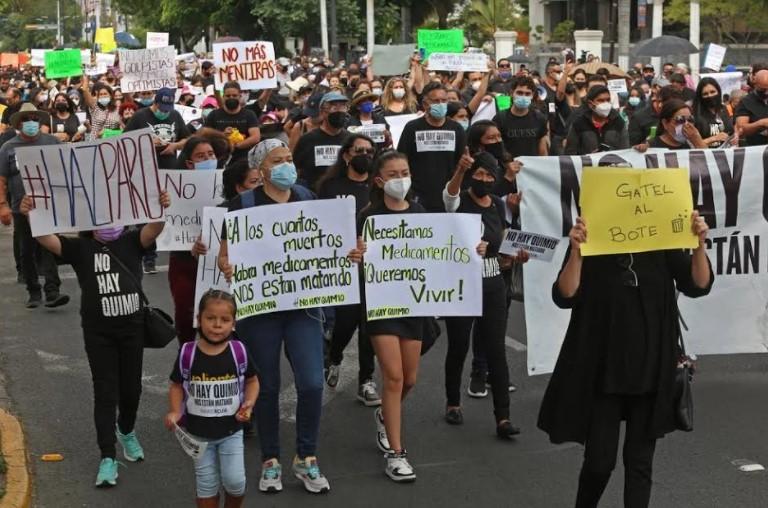 Marcha para exigir medicamentos